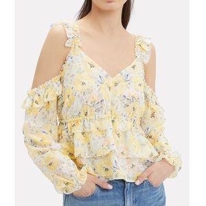 Intermix Grace Cold Shoulder Floral Silk Top